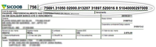 exemplo linha digitavel atualizar boleto sicredi
