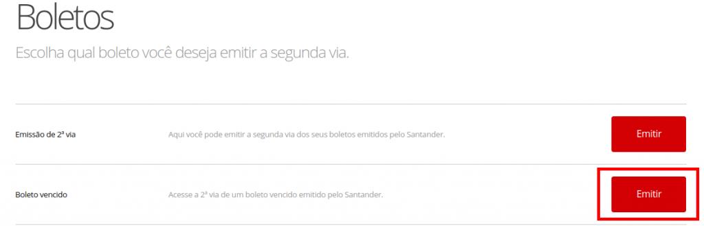 tela 1 atualizar boleto santander